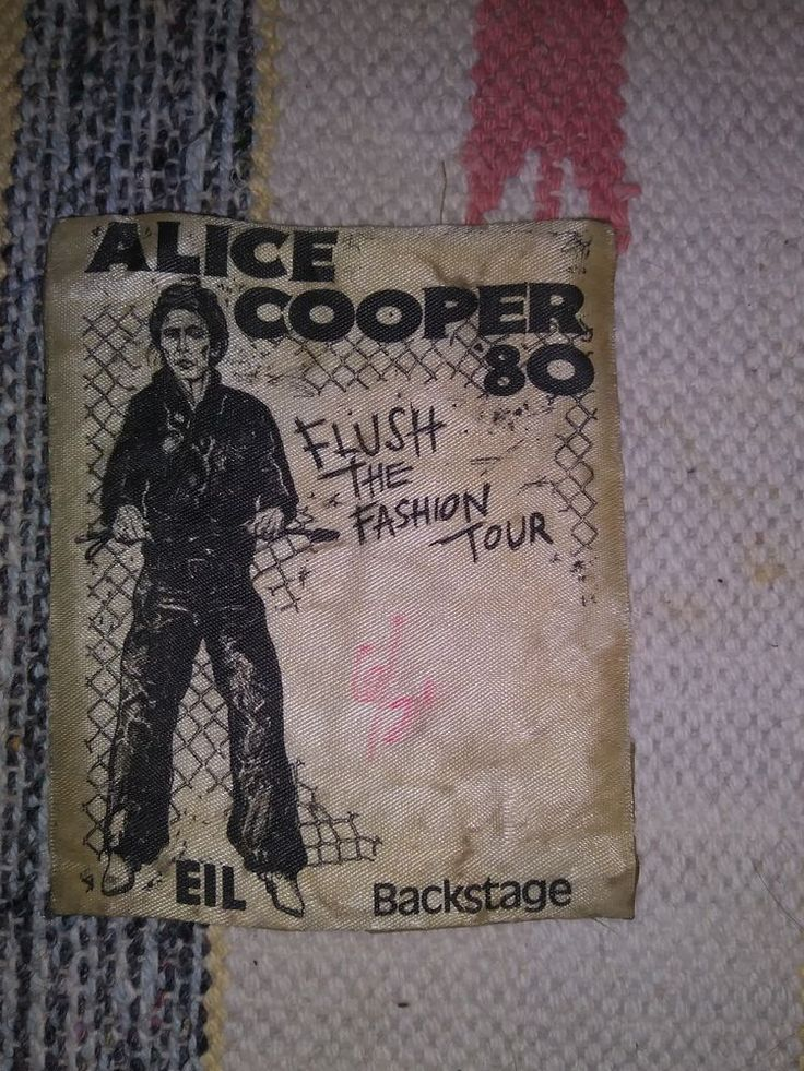 Vintage ALICE COOPER 80 Authentic 1980 Satin Backstage Pass Collectible Tour