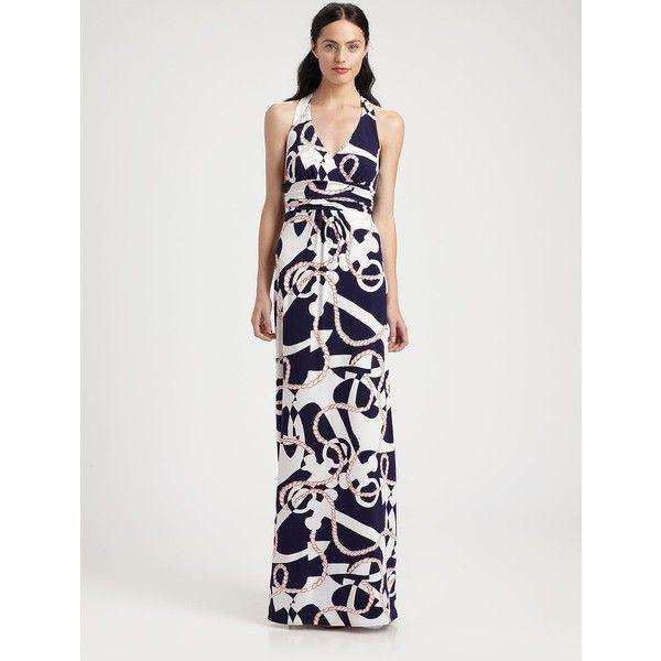 Lilly Pulitzer Amanda Maxi Dress ($198) ❤ liked on Polyvore featuring dresses, navy multi, navy maxi dress, maxi dresses, navy dress, lilly pulitzer dresses and navy blue maxi dress