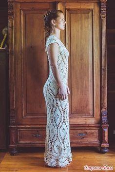 Замечательное платья в пол и жилеточка мотивами (увы без схем) - Вязание - Страна Мам