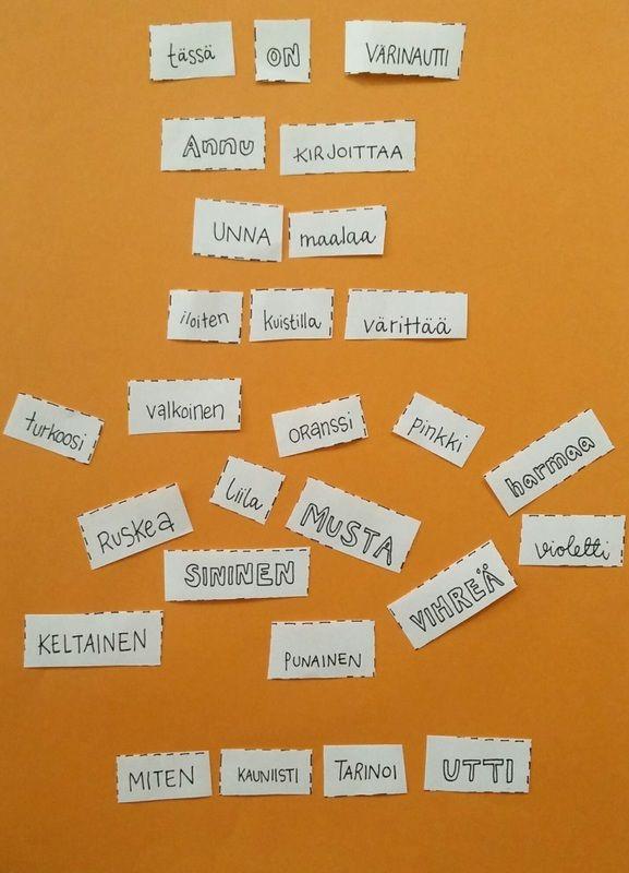 Ohjeet ja ideoita runotehtävään, sanataidetehtävä
