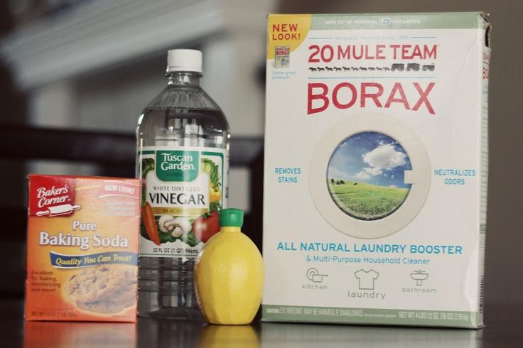 Detergente Lavavajillas DIY  Ingredientes:   1 taza de vinagre   1 taza de bórax   1 taza de bicarbonato de soda (o, mejor aún-sosa cualquier trabajo!)   2 cucharadas de concentrado de jugo de limón en la botella en forma de limón (ácido cítrico técnicamente en una pequeña botella} {plástico, pero es así más barato!) Mezcle todos los ingredientes juntos (use un tazón grande. Eso