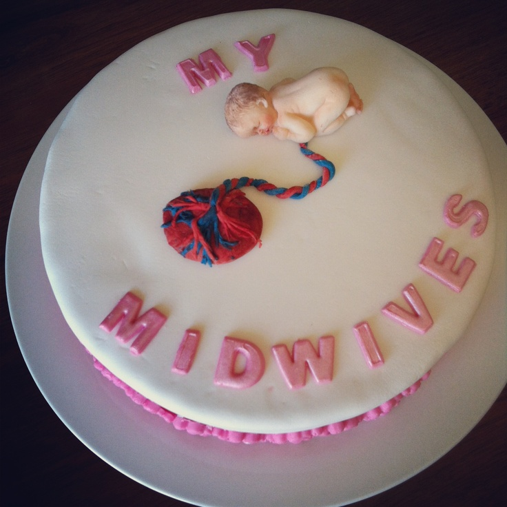Cake for opening of my midwives for my midwife.  Homebirth.