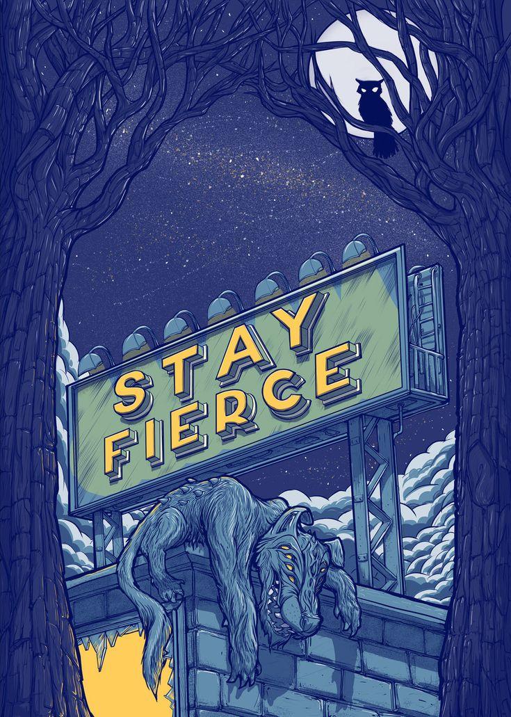 Stay Fierce Werewolf Poster