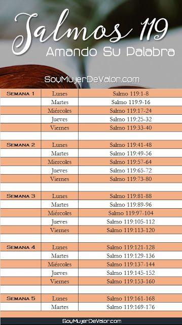 plan de lectura salmo 119