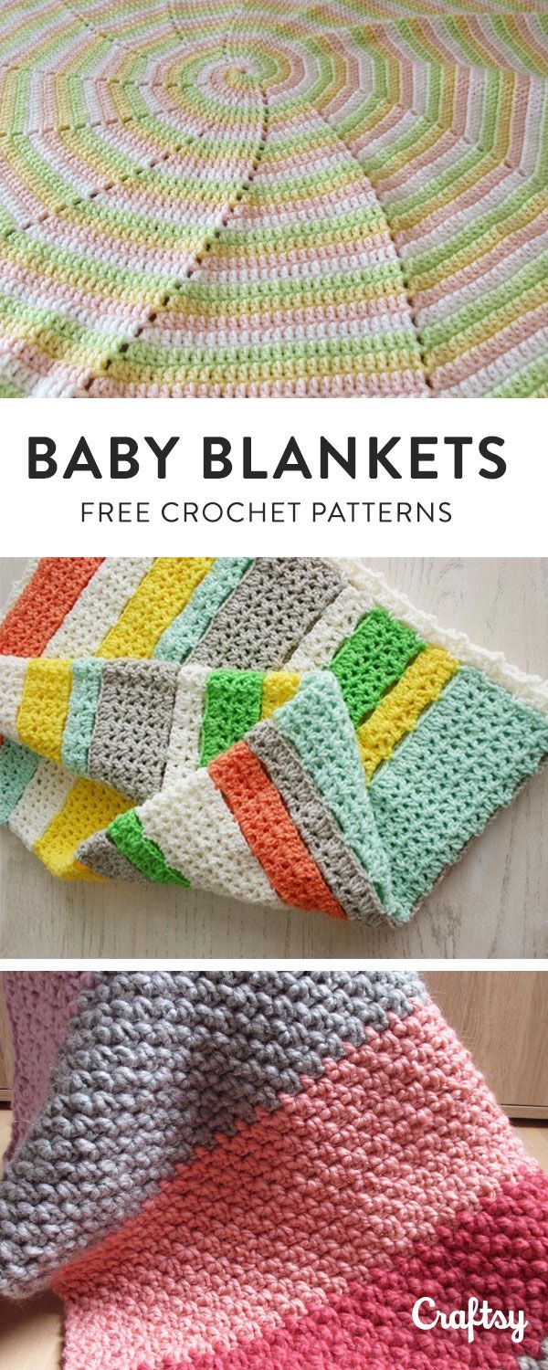 Our most adorable crochet baby blanket patterns for the little one in your life. Create a Craftsy account for free access!