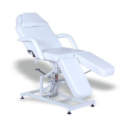 #Salonbed #Massagetable #Tattoo Table #HBA #Salon #Equipment #NewZealand  Serina Beauty Bed (BE08C)  $900.00 (GST Excl.)   Production/delivery time 10-12 weeks   •160(187)D×82W×74(90)Hcm  •Steel base structure with powder coated finish;  •Plywood structure with metal reinforcement;  •Upholstered with high density foam and top quality 1.2mm vinyl;  •Powerful height adjustable hydraulic pump;  •Head and leg section manually adjustable;  •Removable armrest with pillow insert.