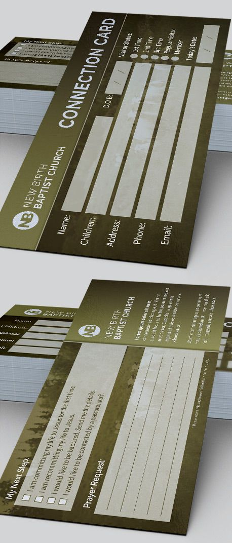 Sheep Church Connection Card Template is great for any Church. It can be used to connect with your congregation, for decision card, attendance purposes or for surveys, etc.