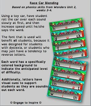Being a special education teacher, I have designed this activity to benefit ALL learners: visual, kinesthetic, auditory, even unique learners such as students with dyslexia. The font that is used will benefit all students, because it was designed for students with dyslexia, or students who may just have a tendency to reverse letters.