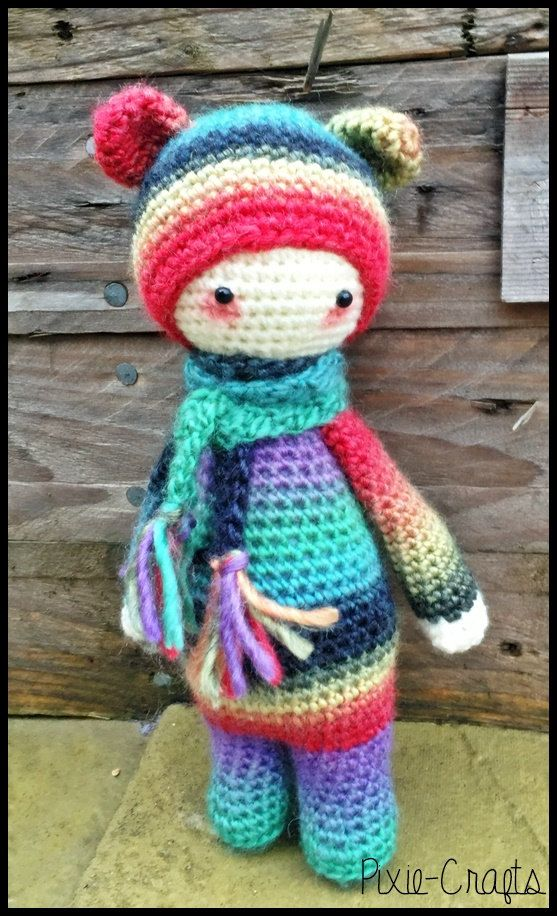 Amigurumi Mini Dolls : Handmade Crochet Amigurumi Mini Rainbow Bina Bear Doll ...