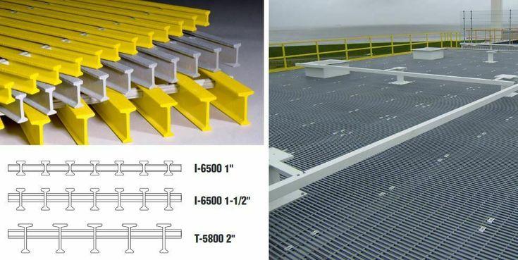 Duradek Fiberglass Grating I6500 Pe 1 Thick X 4 Ft X 12 Ft Fiberglass Fiberglass Mold Building Materials