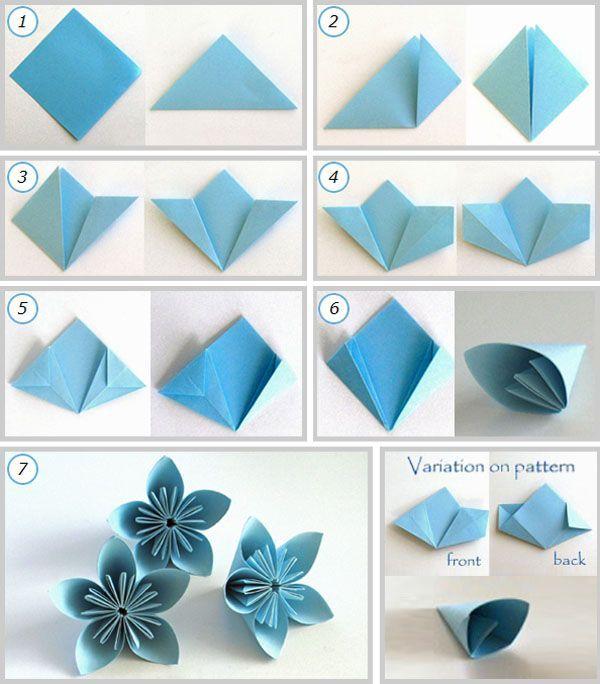Origami Kusudama Falten Kusudama Blume
