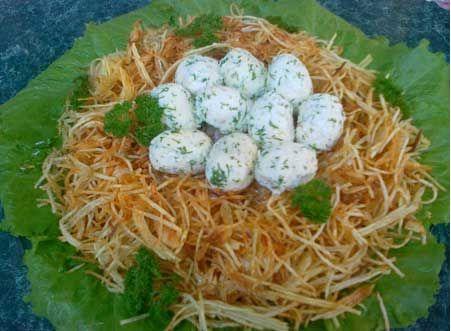 Салат «Гнездо глухаря» | Рецепты с фото