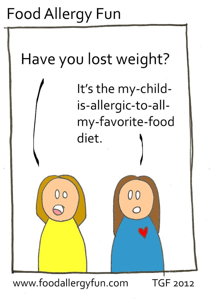 Food Allergy Fun: Have you lost weight? It's the my-child-is-allergic-to-all-my-favorite-food diet.