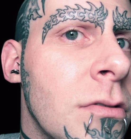 38 best images about face tattoos on pinterest bad for Cross tattoo on forehead meaning