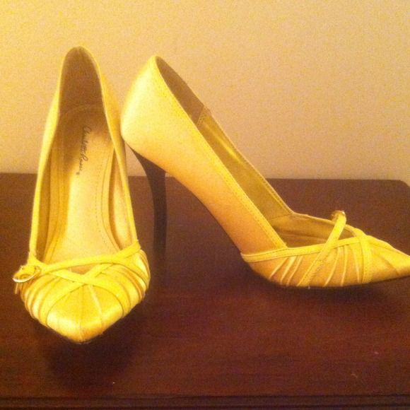 Yellow pumps...rare color! Charlotte Russe yellow pumps; Size 7. Make an offer! Charlotte Russe Shoes Heels