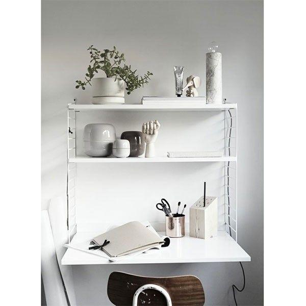 Wandkast met tafel small, wit   String