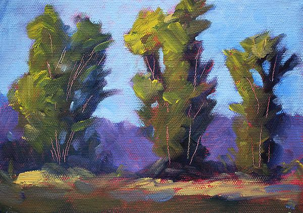 Tree Line Landscape Painting by Nancy Merkle; Original and Fine Art Reproductions