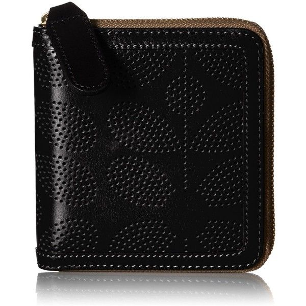 Orla Kiely Sixities Stem Punched Leather Square Wallet (12.095 RUB) ❤ liked on Polyvore featuring bags, wallets, orla kiely bags, orla kiely wallet, zipper wallet, genuine leather wallet and leather zipper bag