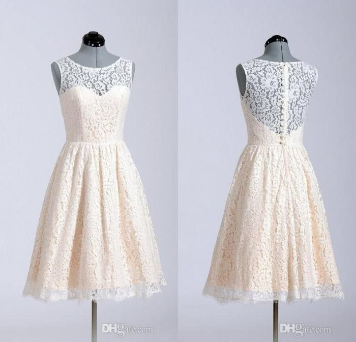 (Comes in Lavender) Lace Bridesmaid Dresses 2015 A Line Short Coral Lavender Knee Length Custom Made In Stock For Wedding Party Cheap, $67.2   DHgate.com