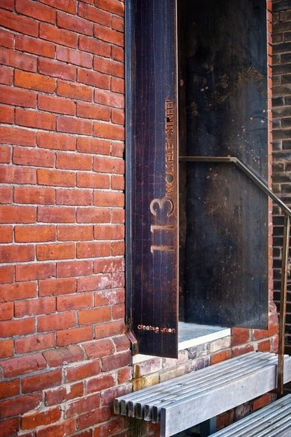 awesome and original cut steel rusty house numbers