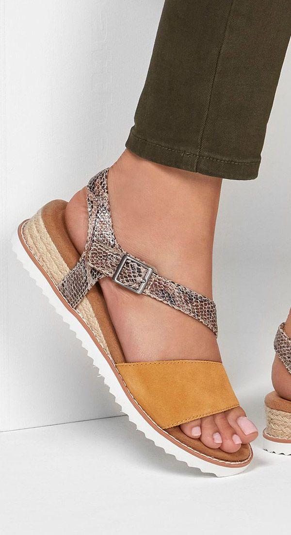 Primitivo Ver internet caballo de Troya  SKECHERS DESERT KISS | Sandalias skechers, Zapatos elegantes mujer, Zapatos  comodos mujer