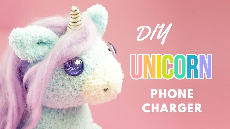 How to make unicorn sock plushie iphone charger. in this tutorial i show i i made this cute unicorn phone chargers using a pair of socks.This DIY unicorn plu...