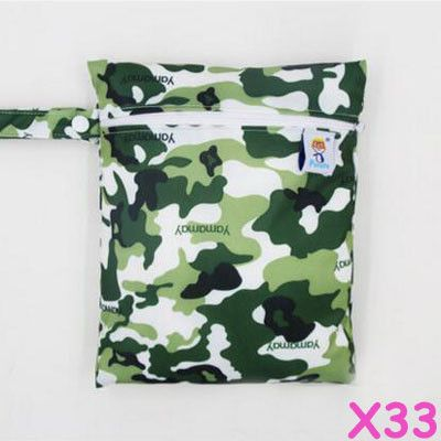 1pc hanging cloth diaper wet bag, waterproof nappy bag for mama pads, portable snack bag,small size bag for bamboo wipe and toy