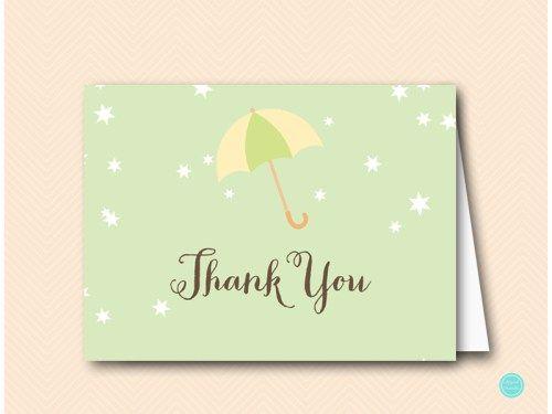 TLC524-thank-you-card-6x4-umbrella-baby-shower