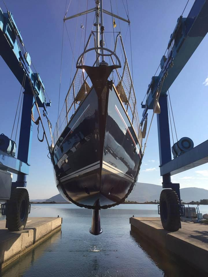 Dry docking by AGG Ancient Greek Glory Yacht Services Lefkas Marina