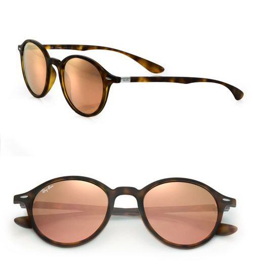 Ray-Ban 50MM Round Nylon Sunglasses Matte Havana       $49.00