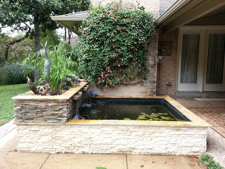 53 best images about above ground pond on pinterest for Modern fish pond ideas
