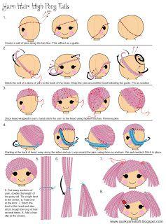Quirky Artist Loft: DIY Yarn Rag Doll Hair