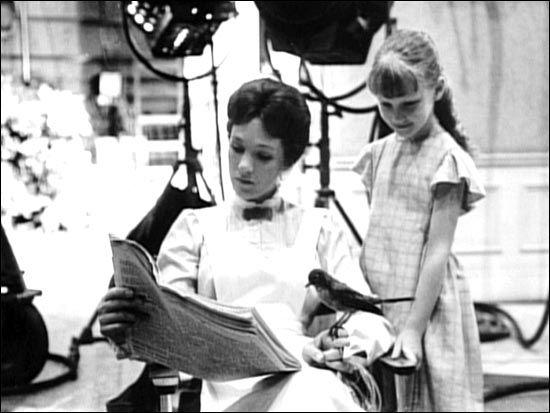 mary poppins. on set...
