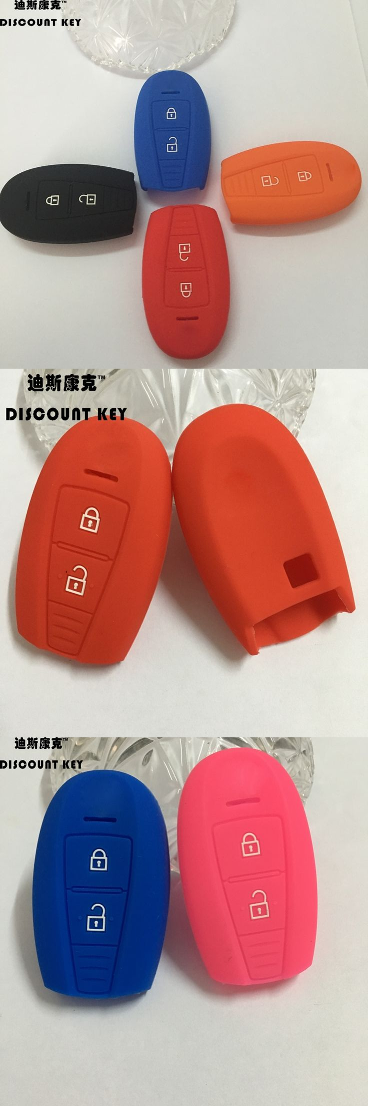 silicone car key case cover for SUZUKI Swift Sport SX4 SCORSS 2 buttons silicone rubber key cover case car accessories key bag