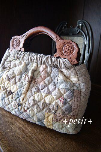 スクラップキルトのバッグ petit-plus