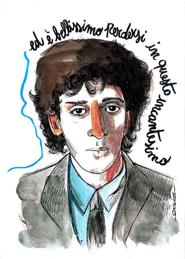 Battiato Franco - tribute portrait by irene chiapatti