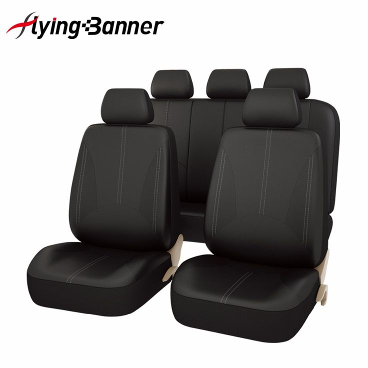 FlyingBanner 11 PCS Full PU Leather Cover Seat Car Universal Car Accessories High Quality Auto Full Set Auto Seat Covers