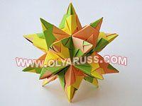 оригами кубы, звезды, кусудамы
