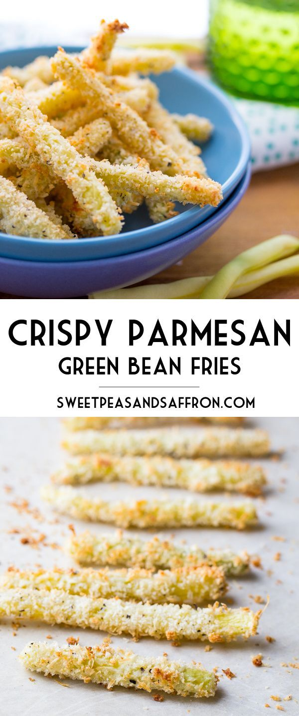 Crispy Oven-Baked Parmesan Green Bean Fries | sweetpeasandsaffron.com @necie83
