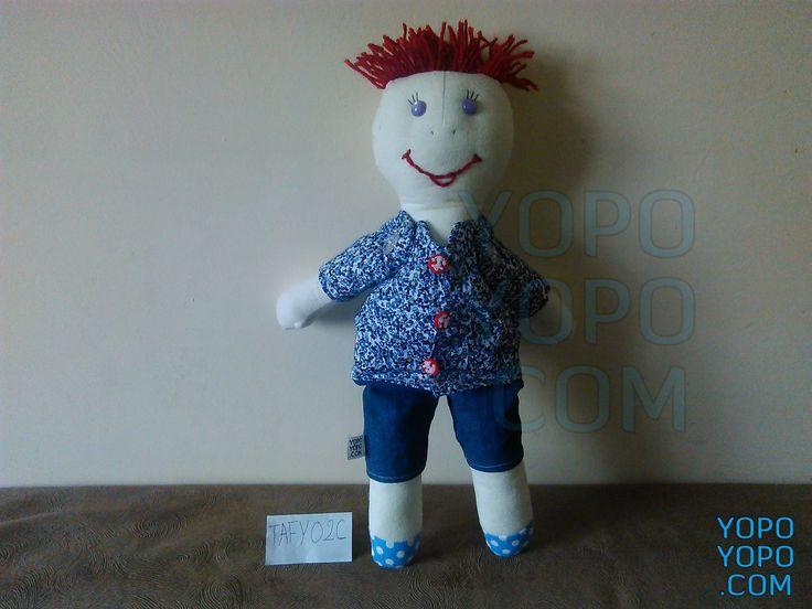 Oyuncak Erkek Bebek Püsküllü Fırça Saçlı TAFY02C Renk: Karma  Kumaş: Karma  İç Dolgu: Elyaf  Ebat: 40 cm  Fiyat: 25 TL  Açıklama: Saçı İp Püsküllüdür.  Kargo: BEDAVA
