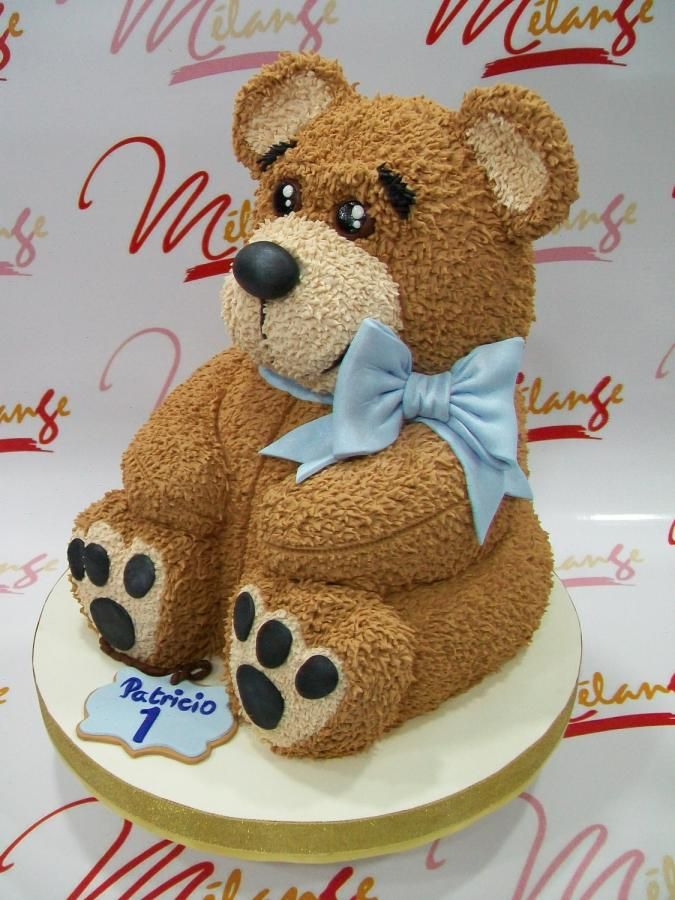 Torta Tallada Teddy Bear By Sonia Porcu Teddy Bear Birthday