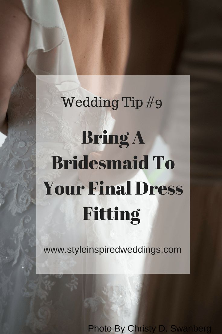 "Bridesmaids are there to help for many wedding day tasks and this one you are going to need them for. You might be wondering, ""why  would I need a bridesmaid to join me at my final fitting?"" The answer is super simple, to learn how  to bustle your dress!"