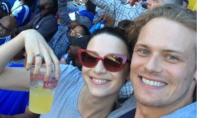 They play one of TVs hottest couples. But Sam Heughan and Caitriona Balfe were enjoying a strictly platonic date on Saturday. The 36-year-old posted a selfie on his Twitter page to prove it.