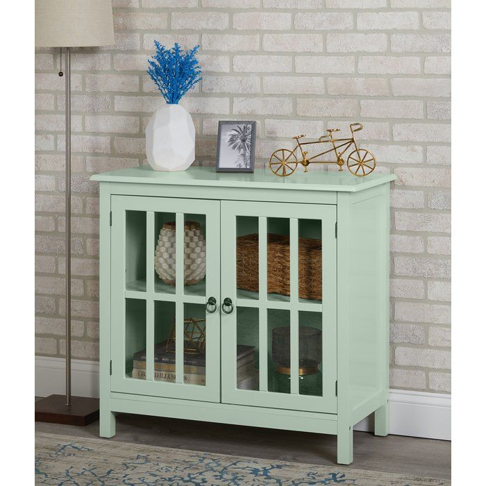 Purdue With Wooden Top 2 Door Accent Cabinet Glass Cabinet Doors