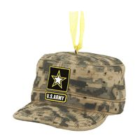 Army Cap Army Christmas Ornament-Celebrate the incredible heroism of the men and women in the armed forces with our US Army cap Christmas ornament!