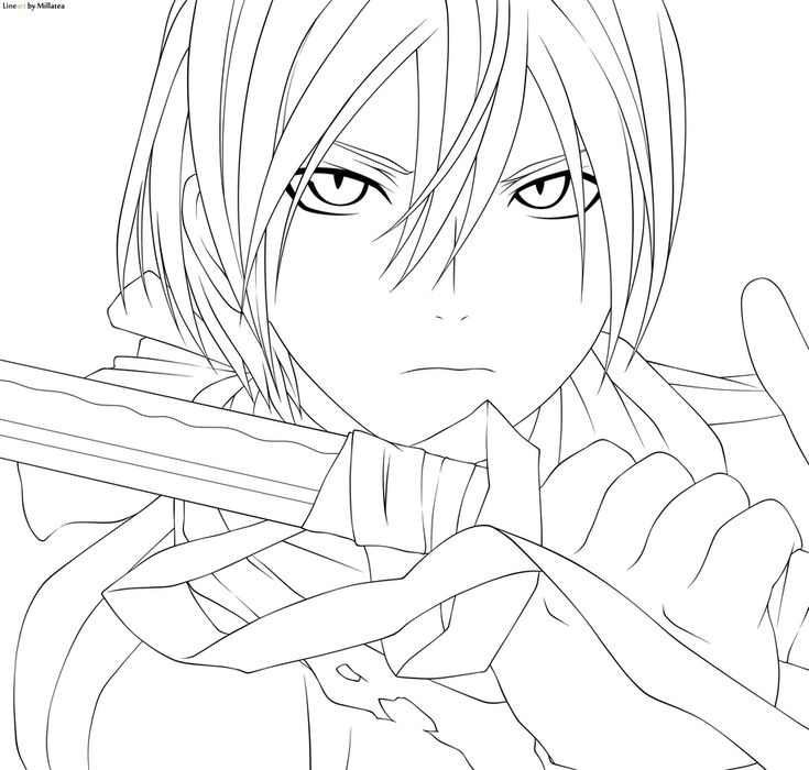 Yato By Millatea Manga Coloring Book Anime Lineart Anime Sketch