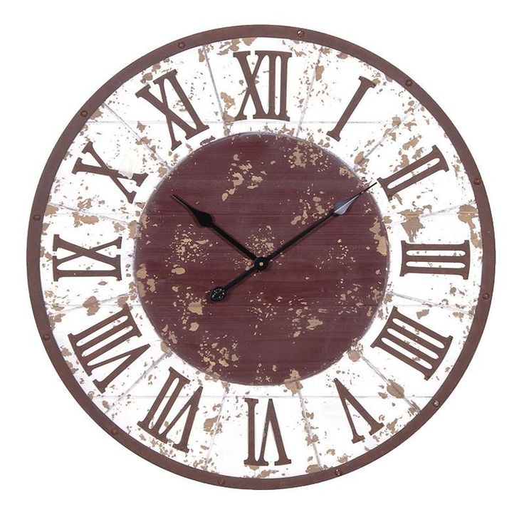 10 best horloges avec des capsules images on pinterest beer cans shabby chic large white rustic wall clock fandeluxe Choice Image