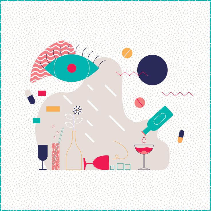 www.gloriaciceri.com // Gloria Ciceri // Berlin Nights // #illustration #illustrator #berlin #disco #club #berghain #clubs #night #life #alcohol #drink #2d #art #poster #graphic #texture #eye #flower #wine