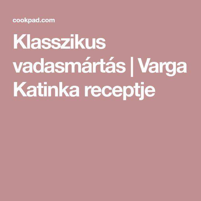 Klasszikus vadasmártás | Varga Katinka receptje