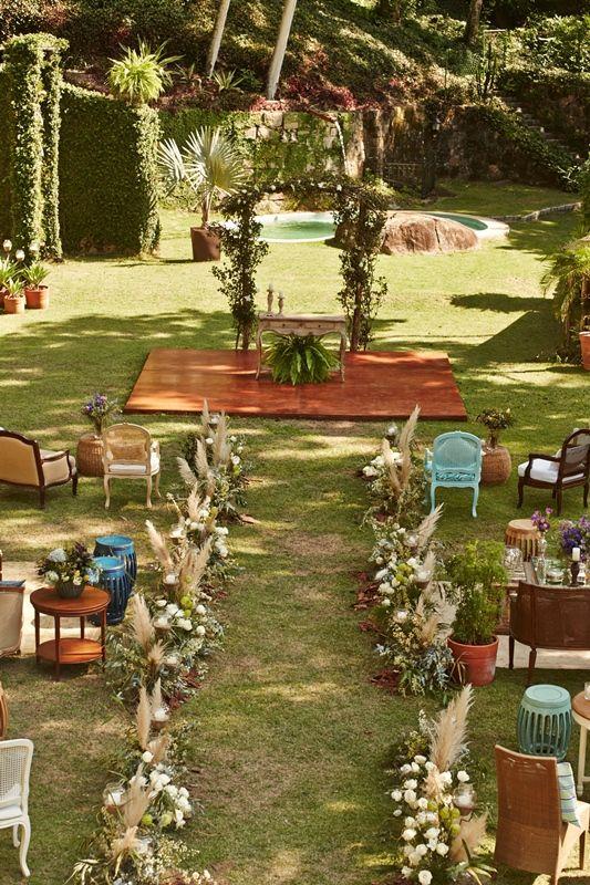 casamento boho - cerimonia ao ar livre diferente